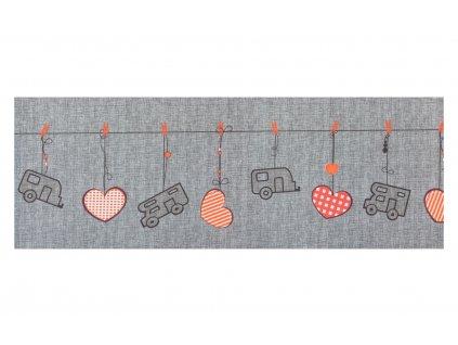 Arisol koberec běhoun Heart šedý