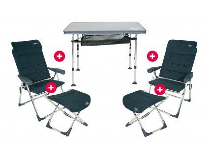 Crespo 5-dílná sada stolu a křesel Exklusiv Set AL/213