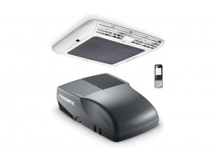 Dometic FreshJet 2200 Dachklimaanlage mit Luftverteilerbox und Fernbedienung für Reisemobile bis 7 Meter Grau
