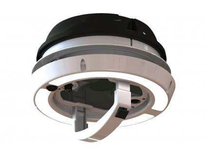 Airxcel Maxxfan Dome Dachlüfter / Seitenwandlüfter 12 V mit LED Beleuchtung schwarz
