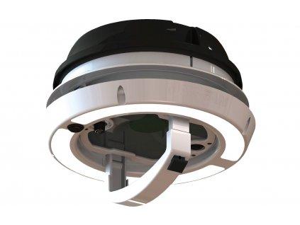 Airxcel Maxxfan Dome střešní ventilátor / nástěnný ventilátor 12 V s LED osvětlením černý