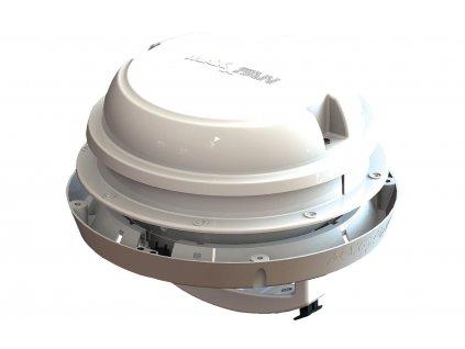 Airxcel Maxxfan Dome Střešní / boční ventilátor 12 V s LED osvětlením, bílý