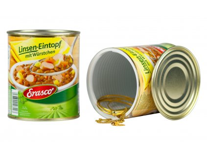 Falešná gulášová plechovka Erasco