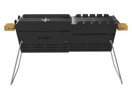 Knister Originální rozšiřitelný gril na dřevěné uhlí