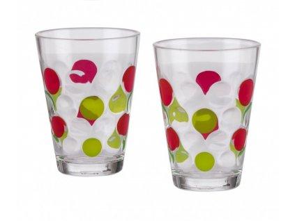 Sada 2 skleniček Bubble - lime-berry