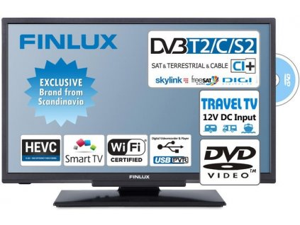 TV Finlux 24 T2 SAT DVD SMART WIFI 12V l