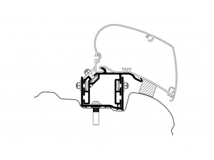 Adaptér pro Thule markýzy pro VW Crafter od RV 2017