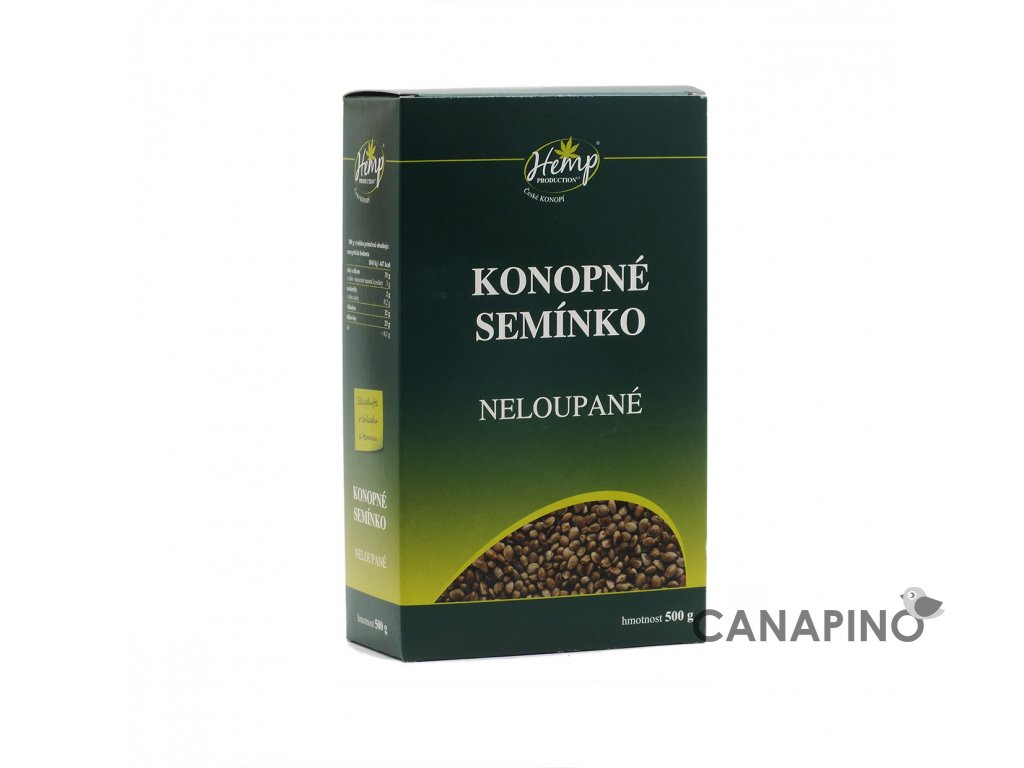 hemp production konopne seminko neloupane 500g front