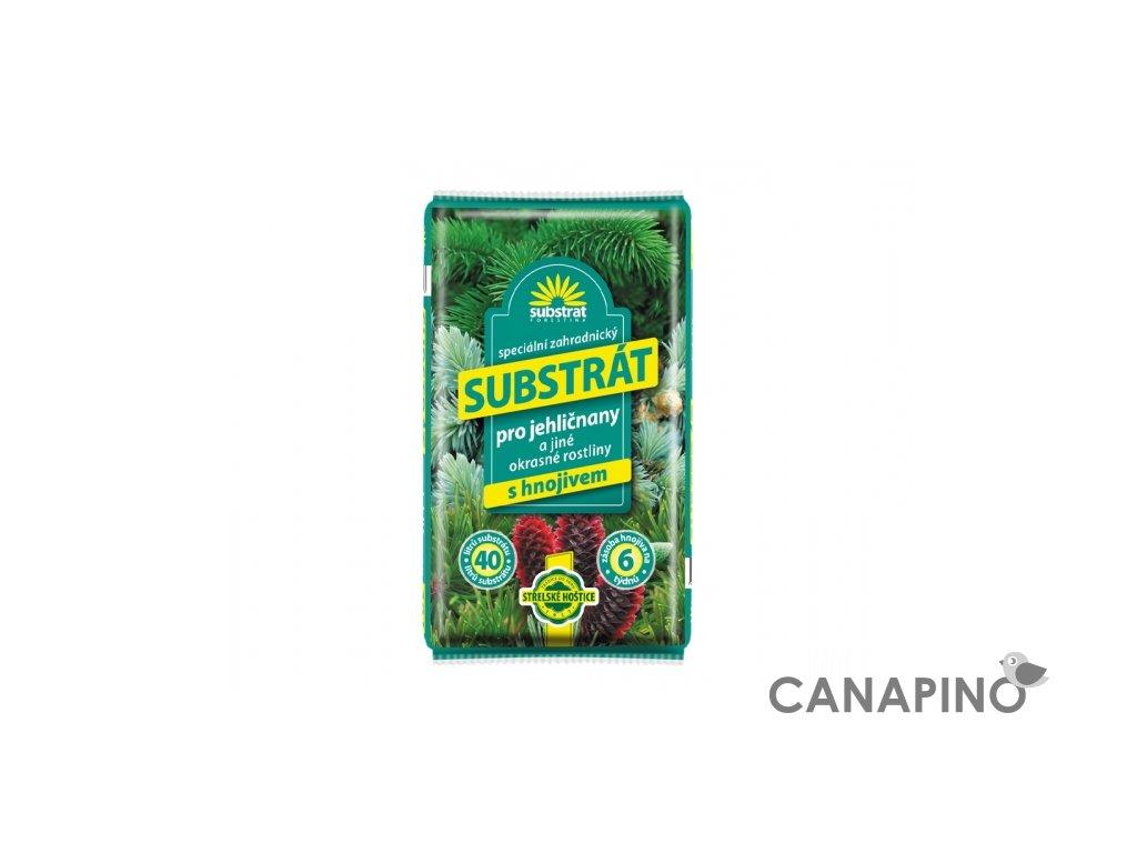 substrat forestina na jehličnany a okrasné rostliny
