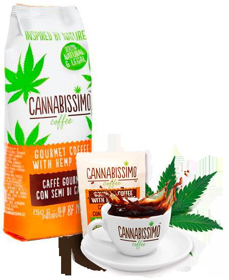 Cannabissimo - mletá konopná káva, káva s konopnými semínky 250g