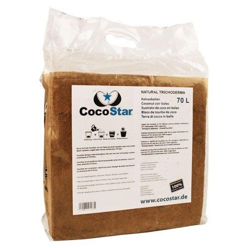 CocoStar bale 70l, lisovaný kokos 30x30x12 cm