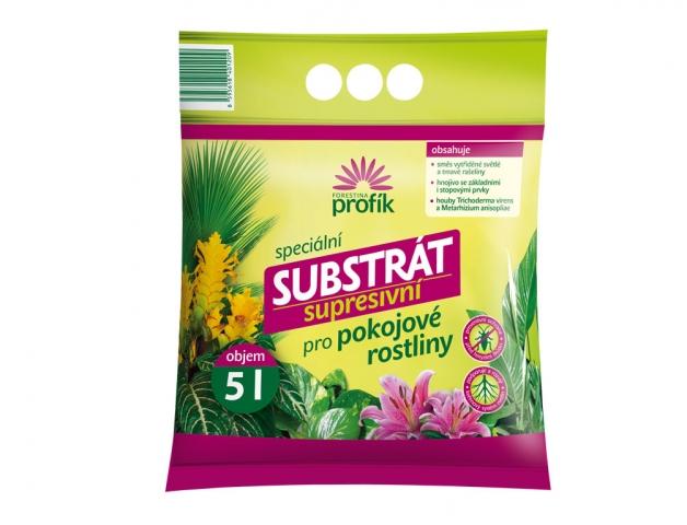 Substrát FORESTINA PROFÍK supresivní pro pokojové rostliny obsah: 5l