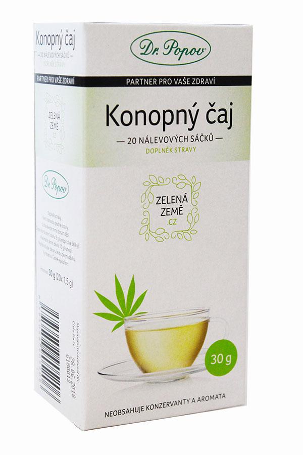 CBD Konopný čaj porcovaný 30 g