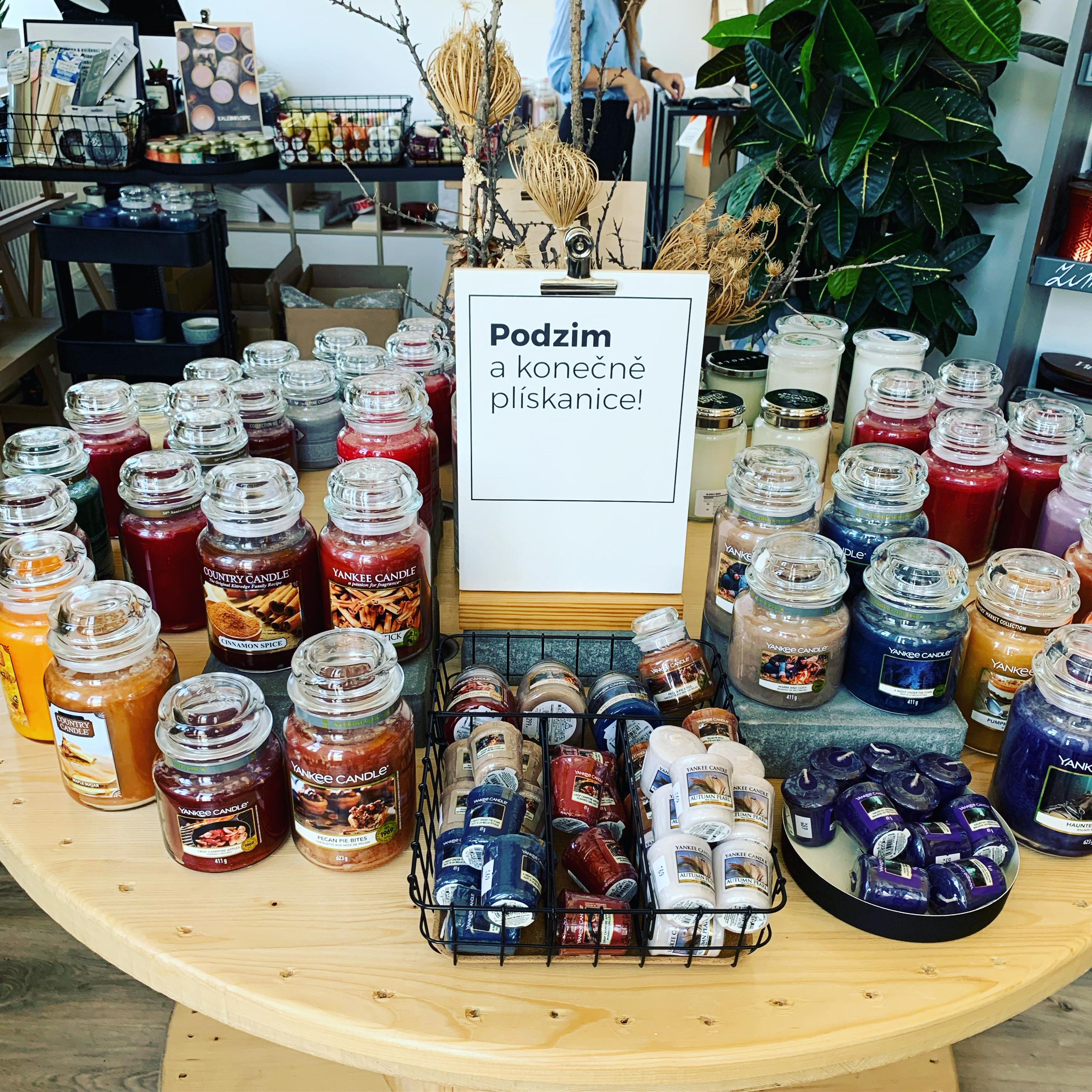 Podzimní prodejna Candle Stories