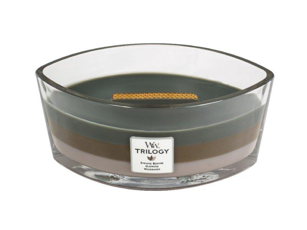 WoodWick - vonná svíčka Trilogy COZY CABIN (Útulná chata) 453,6 g