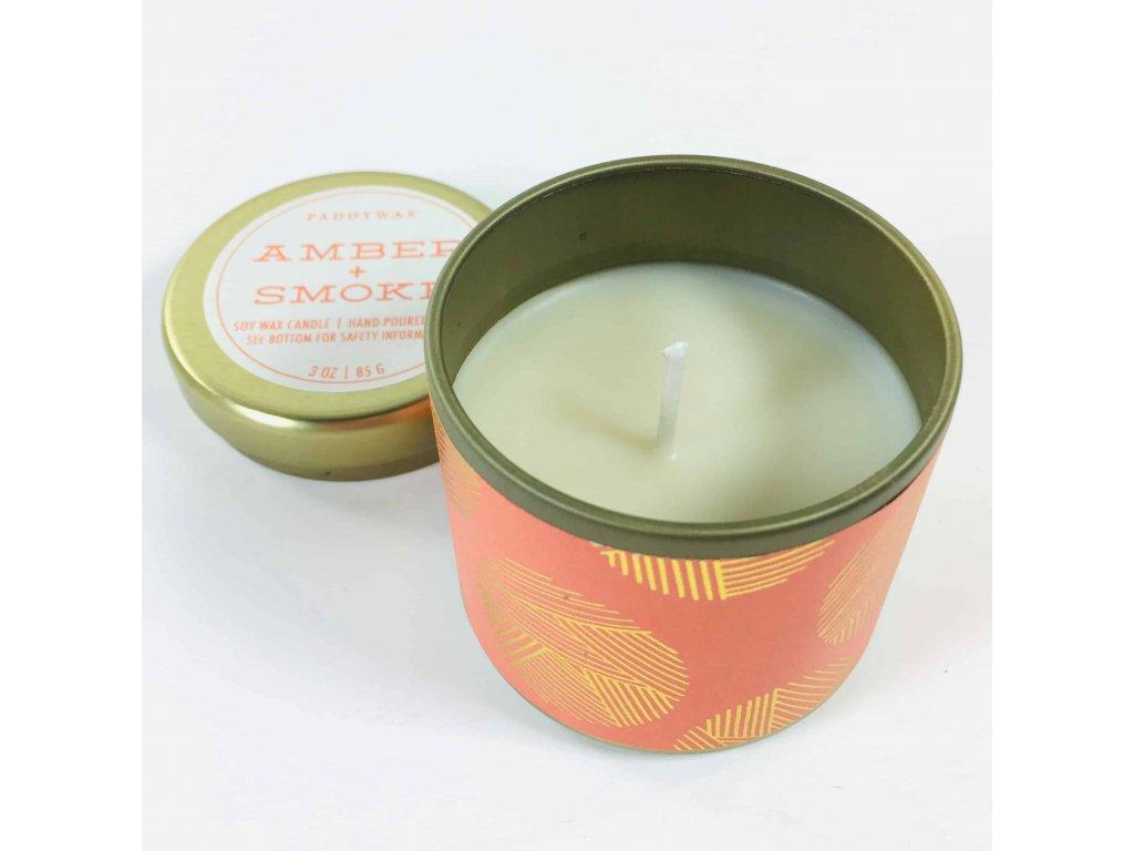 Paddywax - vonná svíčka Kaleidoscope AMBER + SMOKE (Jantar a kouř) 85 g
