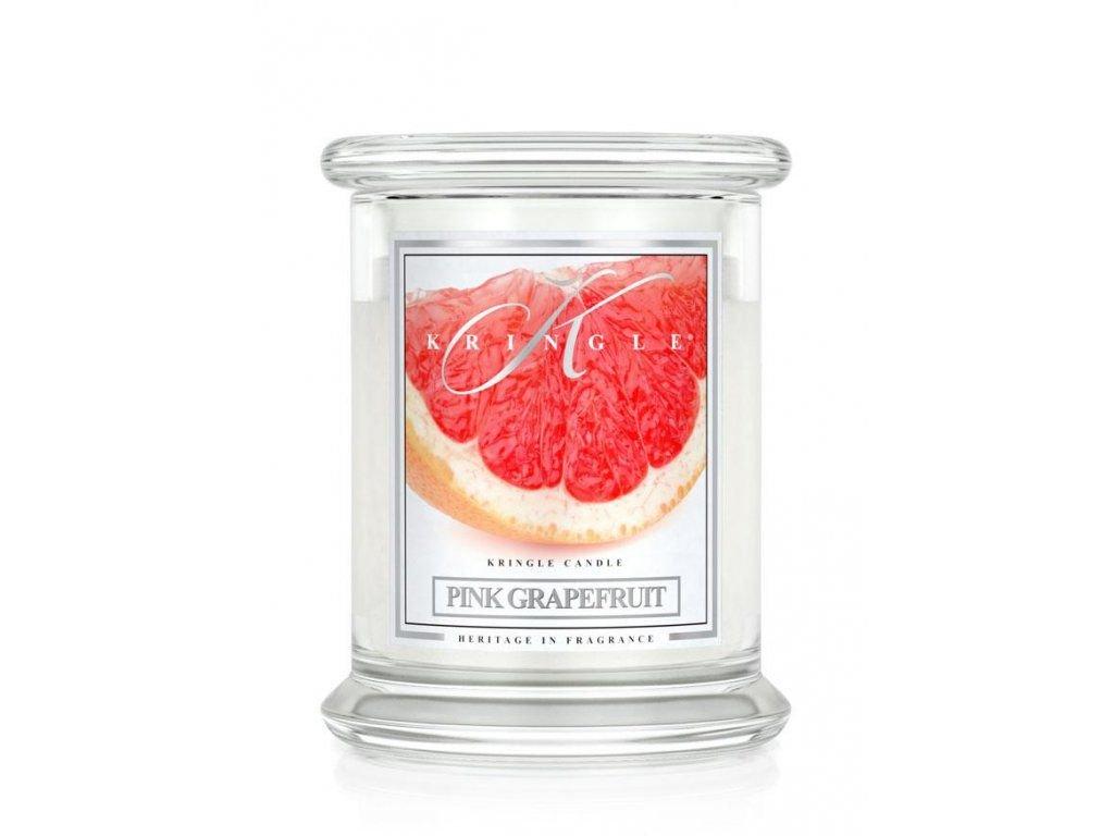 Kringle Candle - vonná svíčka PINK GRAPEFRUIT (Růžový grep) 411 g