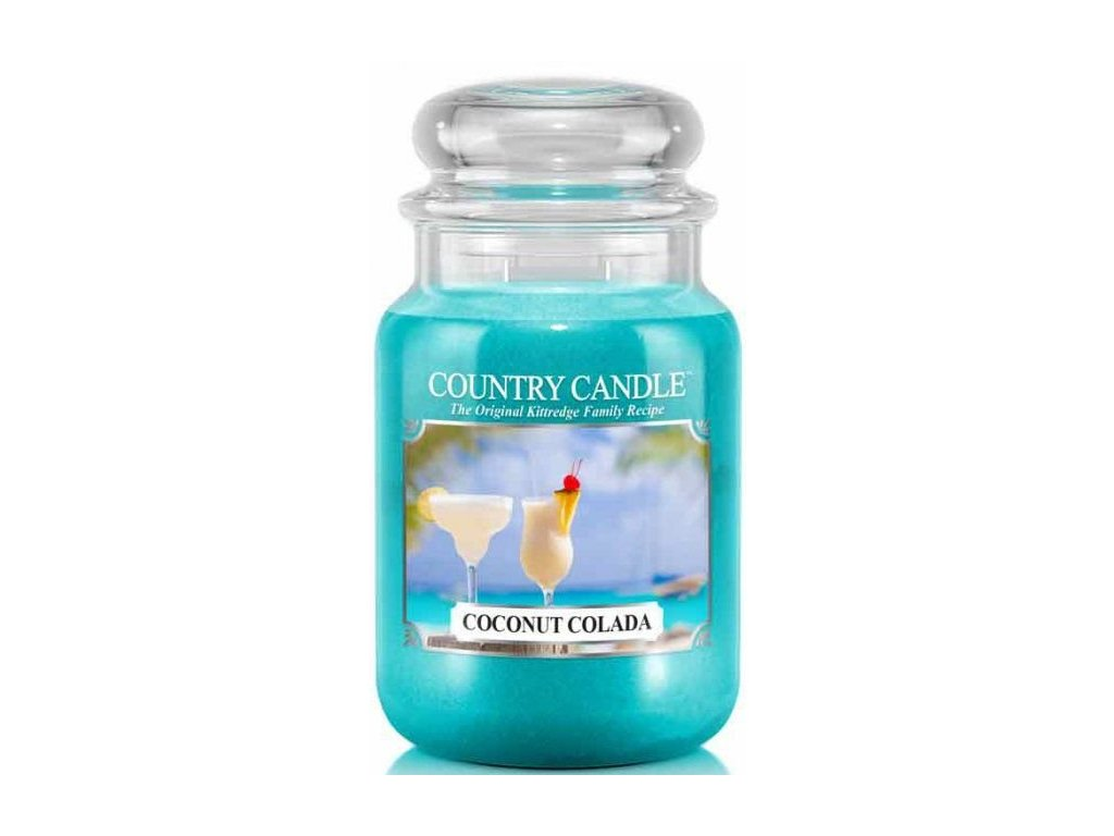 Country Candle - vonná svíčka COCONUT COLADA (Kokosový nápoj) 652 g
