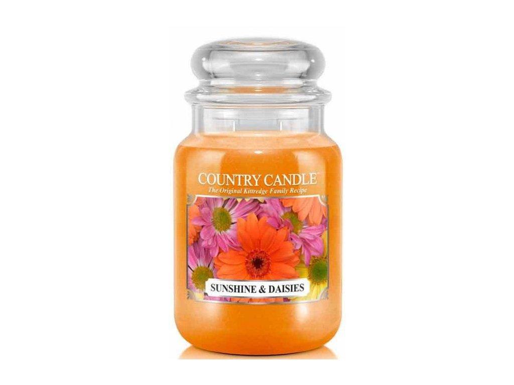 Country Candle - vonná svíčka SUNSHINE AND DAISIES (Slunce a sedmikrásky) 652 g