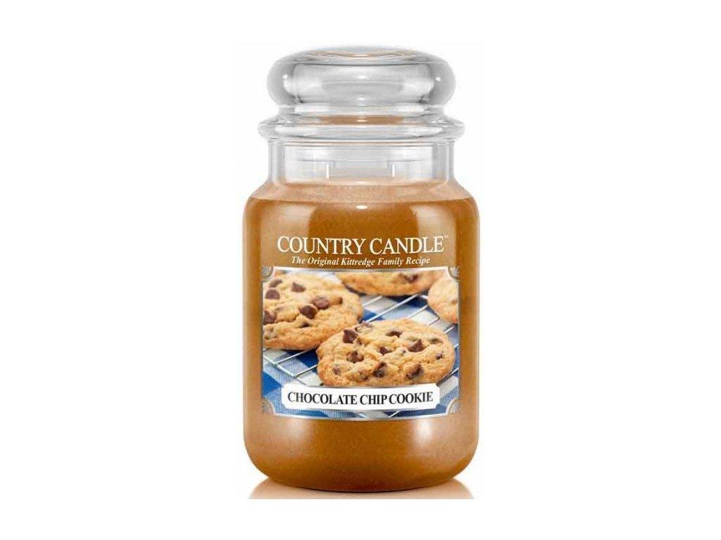 Country Candle - vonná svíčka CHOCOLATE CHIP COOKIES (Sušenka s čokoládovými kousky) 652 g