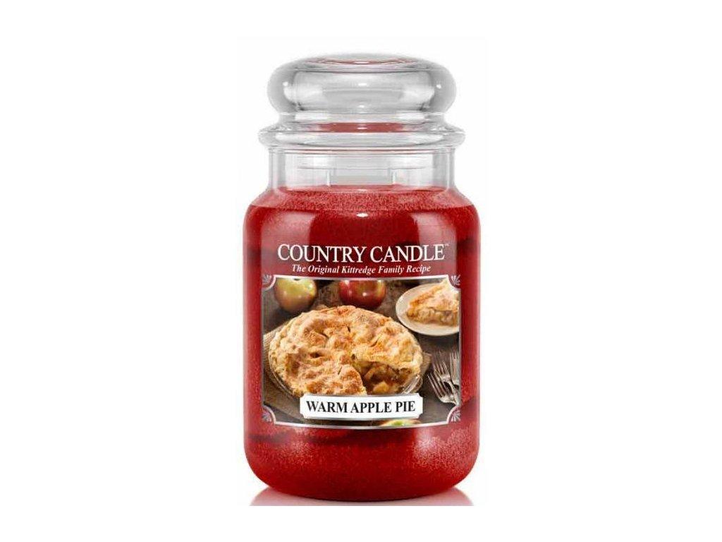 Country Candle - vonná svíčka WARM APPLE PIE (Horký jablečný koláč) 652 g