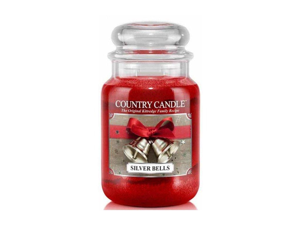 Country Candle - vonná svíčka SILVER BELLS (Stříbrné zvonky) 652 g