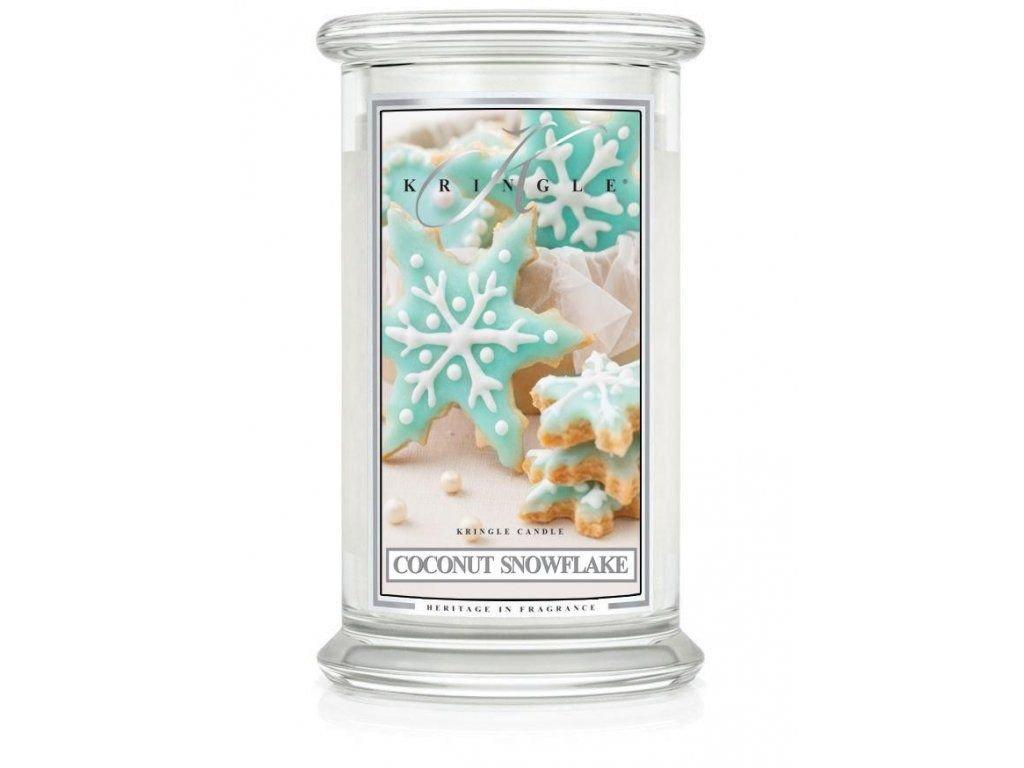 KRINGLE CANDLE COCONUT SNOWFLAKE VONNÁ SVÍČKA VELKÁ 624 G