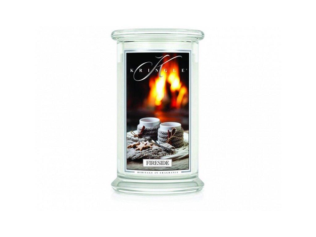 Kringle Candle - vonná svíčka FIRESIDE (U krbu) 624 g