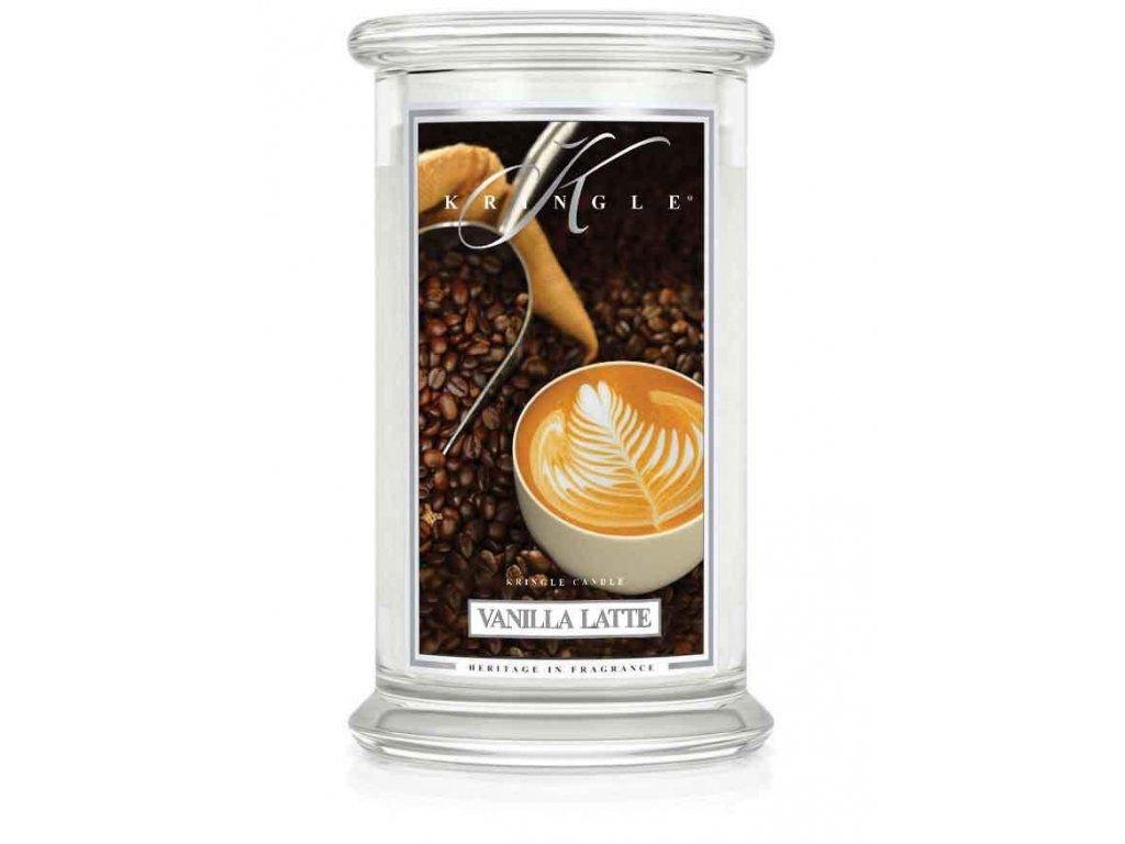 Kringle Candle - vonná svíčka VANILLA LATTE (Vanilkové latte) 624 g