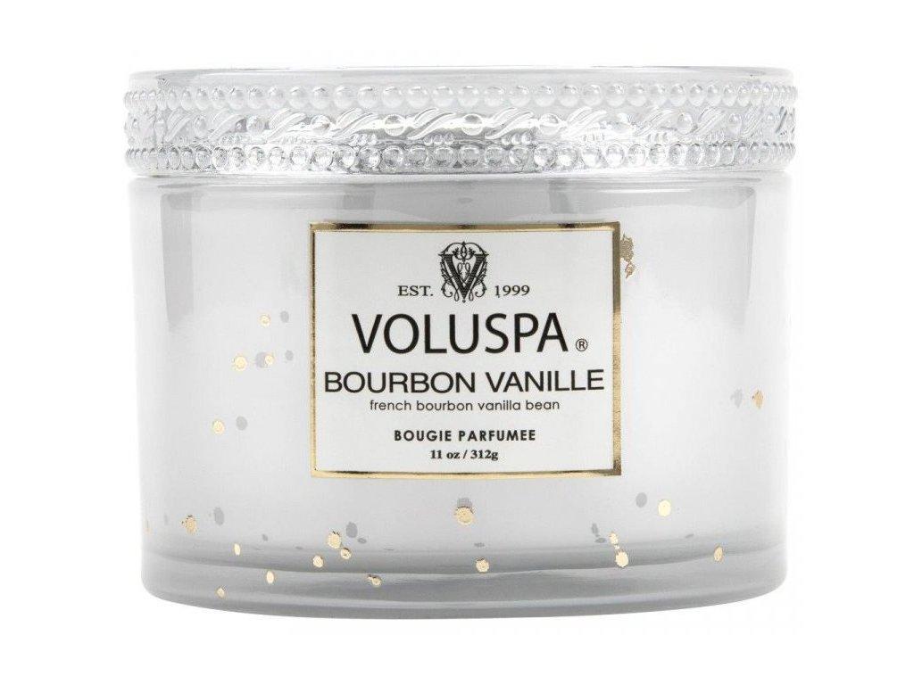 29822 3 voluspa vermeil bourbon vanille 11 oz corta maison glass candle w lid boxed