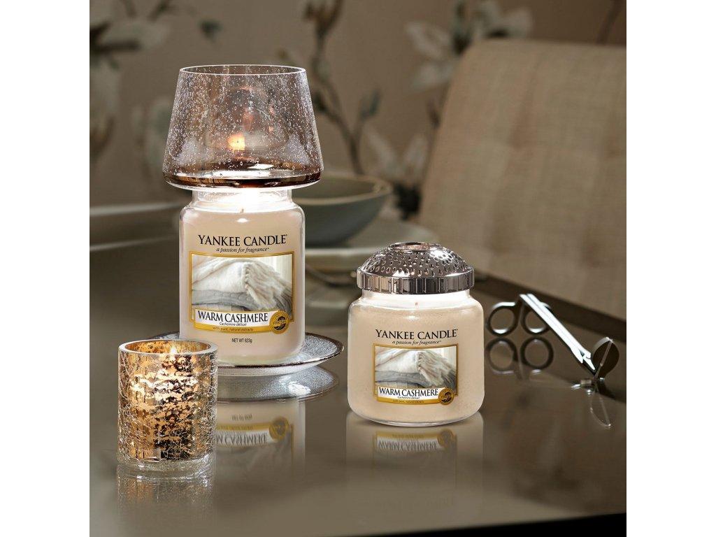 Yankee Candle - svícen na votivní svíčku KENSINGTON MERCURY GLASS
