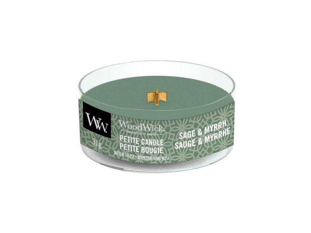 WoodWick - vonná svíčka SAGE & MYRRH (Šalvěj a myrha) 31 g