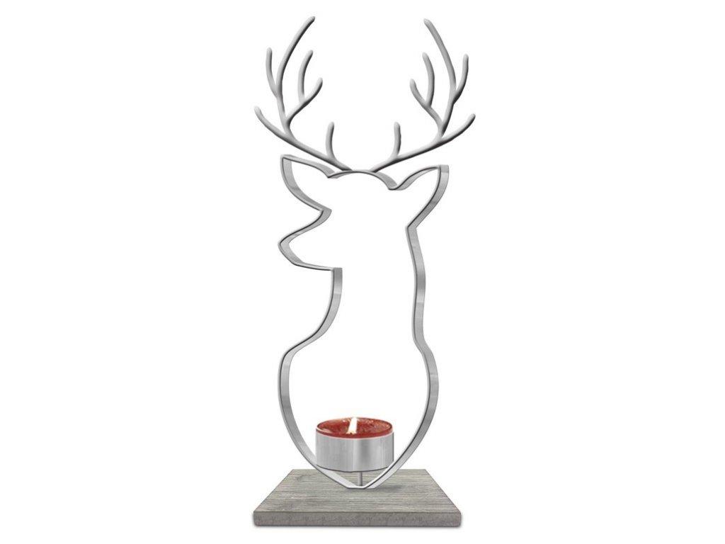 Yankee Candle - svícen na čajovou svíčku NORDIC STAG
