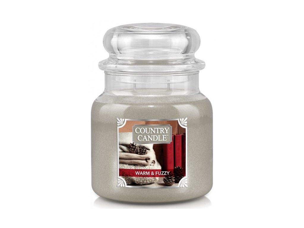 Country Candle - vonná svíčka WARM & FUZZY (Hřejivý a huňatý) 453 g