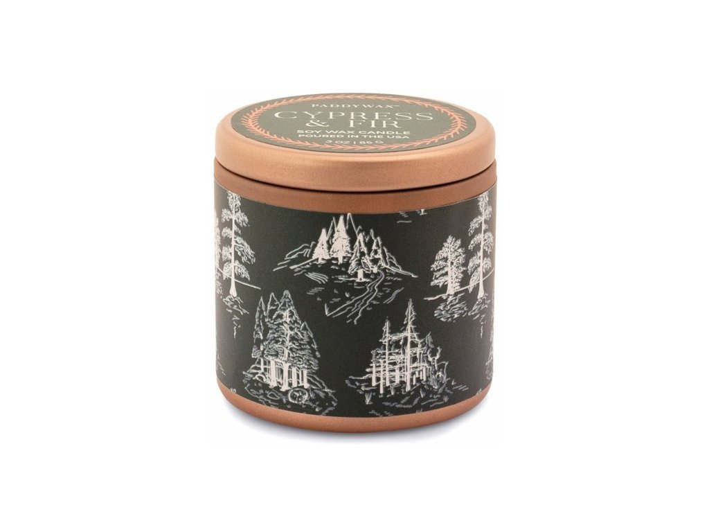 Paddywax - vonná svíčka CYPRESS & FIR (Cypřiš a jedle) zelená 85g