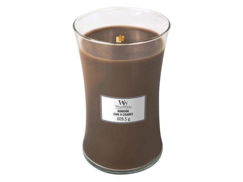 WoodWick - vonná svíčka HUMIDOR (Pouzdro na doutníky) 609 g