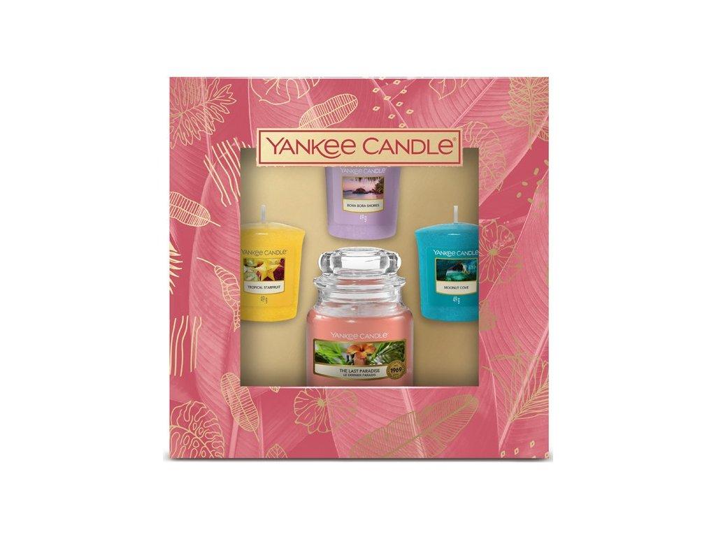 Yankee Candle - dárková sada malý classic + 3 votivní svíčky