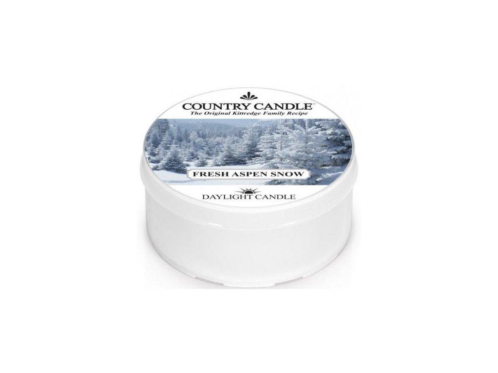 Country Candle - vonná svíčka FRESH ASPEN SNOW (Čerstvý sníh v Aspenu) 42 g