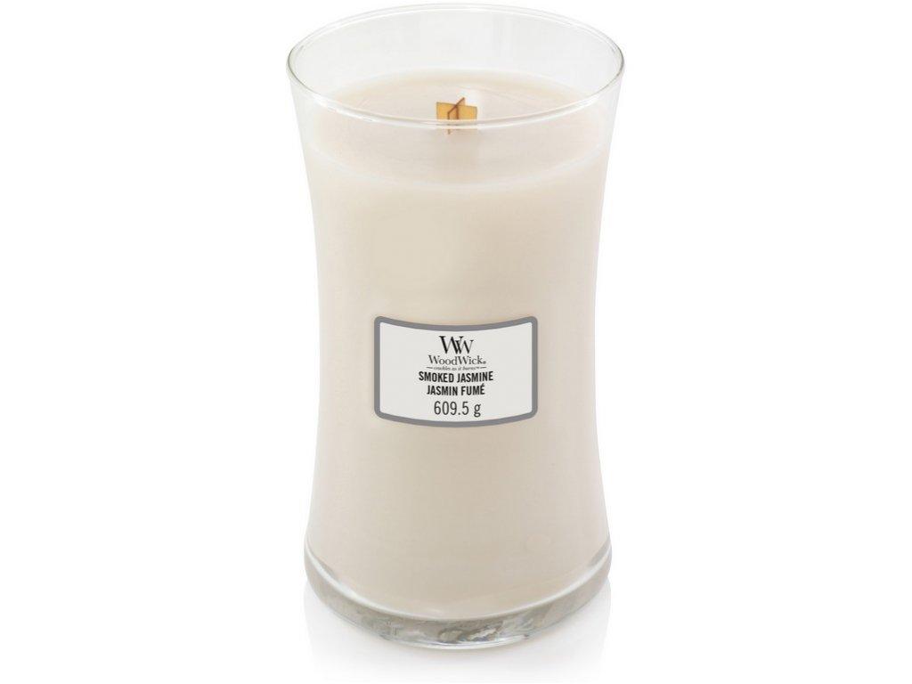 WoodWick - vonná svíčka SMOKED JASMINE (Kouřový jasmín) 609 g