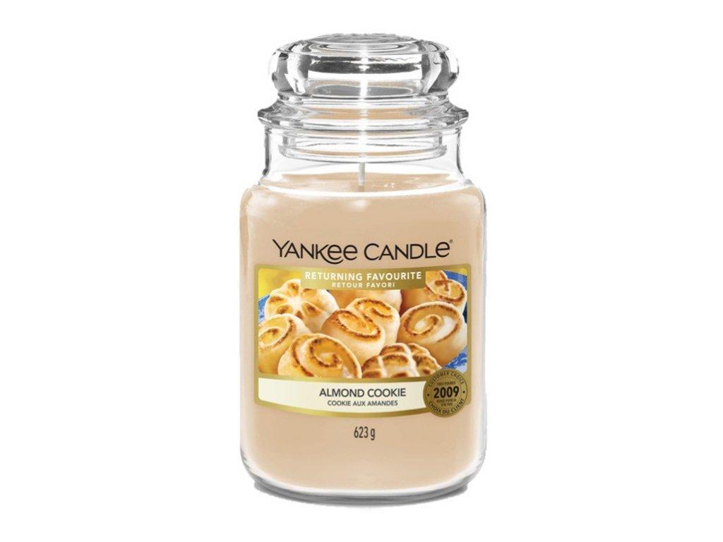 Yankee Candle - vonná svíčka ALMOND COOKIE  (Mandlová sušenka) 623 g