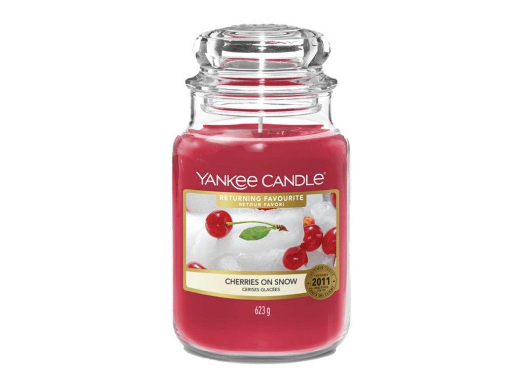 Yankee Candle - vonná svíčka CHERRIES ON SNOW (Třešně na sněhu) 623 g