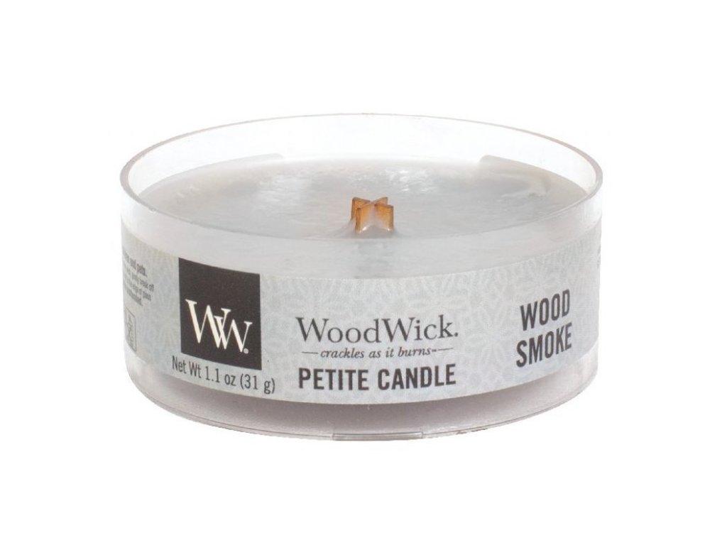 WoodWick - vonná svíčka WOOD SMOKE (Dřevitý kouř) 31 g