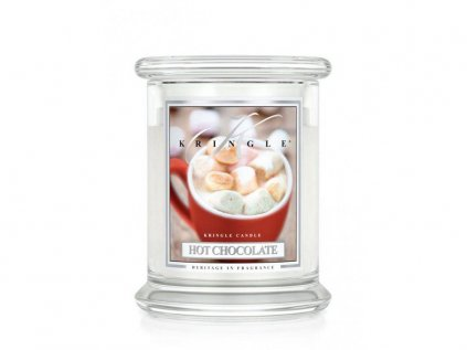 Kringle Candle - vonná svíčka HOT CHOCOLATE (Horká čokoláda) 411 g
