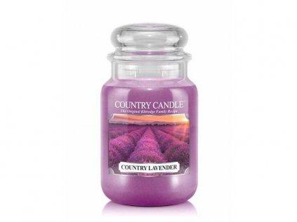 Country Candle - vonná svíčka COUNTRY LAVENDER (Země levandule) 652 g