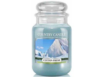 Country Candle - vonná svíčka COTTON FRESH (Bavlněná svěžest) 652 g