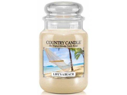 Country Candle - vonná svíčka LIFE'S A BEACH (Život je pláž) 652 g