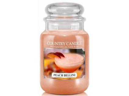 Country Candle - vonná svíčka PEACH BELLINI (Broskvové bellini) 652 g