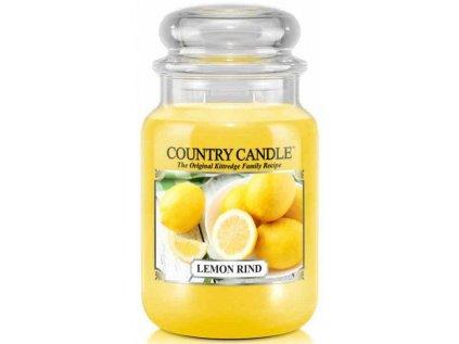 Country Candle - vonná svíčka LEMOND RIND (Citronová kůra) 652 g