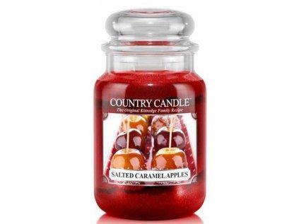 Country Candle - vonná svíčka SALTED CARAMEL APPLES (Jablka ve slaném karamelu) 652 g