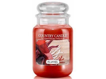 Country Candle - vonná svíčka FLANNEL (Flanel) 652 g